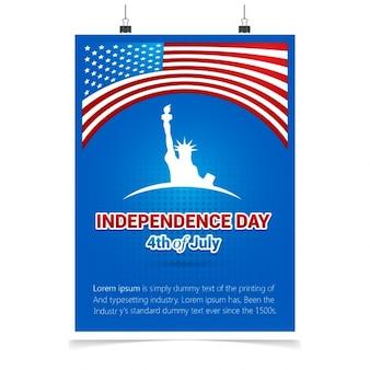 Tarjeta de felicitación del día de la independencia del 4 de julio