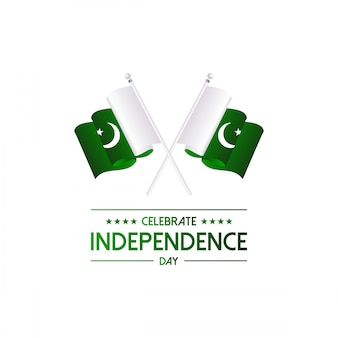 Tarjeta de felicitación del día de la independencia de pakistán