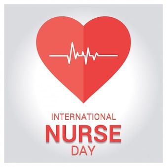 Tarjeta de felicitación por el día internacional de la enfermera