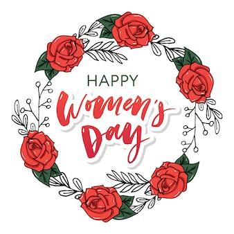 Tarjeta de felicitación del día internacional de la mujer.
