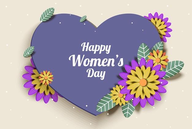 Tarjeta de felicitación del día de la madre feliz con diseño de tipografía y hermosa flor en flor.