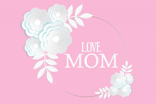 Tarjeta de felicitación del día de la madre.