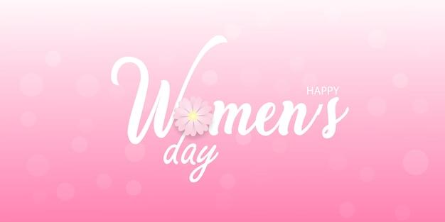 Tarjeta de felicitación del día de la mujer feliz