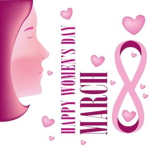 Tarjeta de felicitación del día de la mujer ilustración vectorial