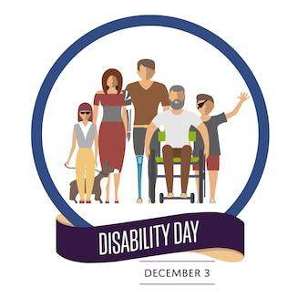 Tarjeta de felicitación del día mundial de la discapacidad