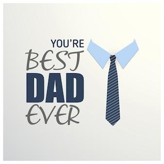 Tarjeta de felicitación para el día del padre con corbata