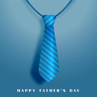 Tarjeta de felicitación del día de padres feliz con corbata azul