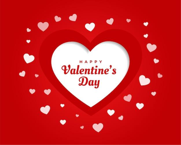 Tarjeta de felicitación del día de san valentín con corazones