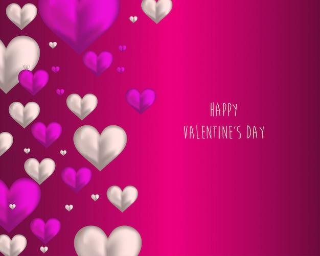 Tarjeta de felicitación del día de san valentín