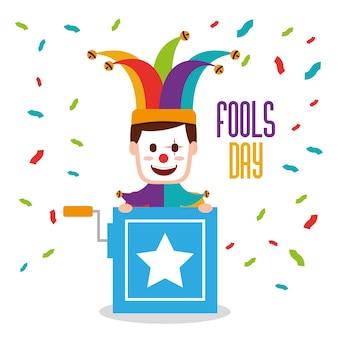 Tarjeta de felicitación del día de los tontos