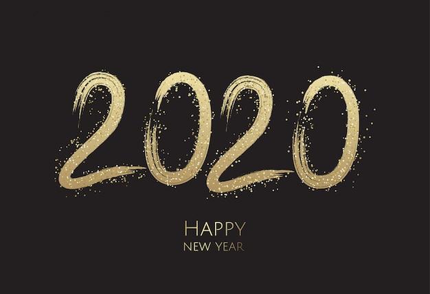 Tarjeta de felicitación de feliz año nuevo 2019