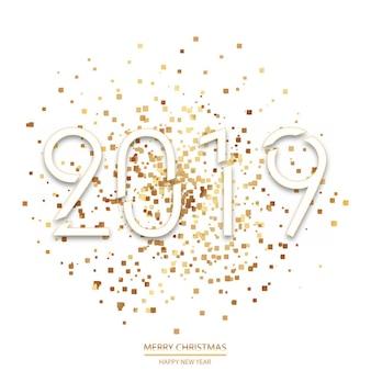 Tarjeta de felicitación feliz año nuevo y feliz navidad. vector.