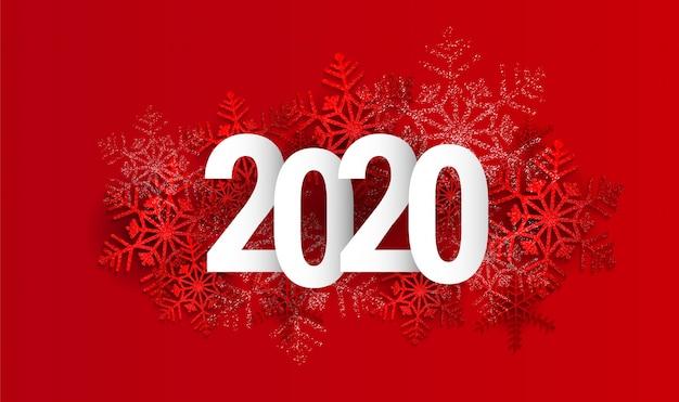 Tarjeta de felicitación de feliz año nuevo de vector 2020.