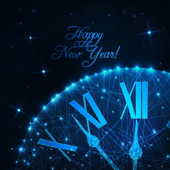 Tarjeta de felicitación feliz año nuevo