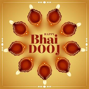 Tarjeta de felicitación feliz bhai dooj
