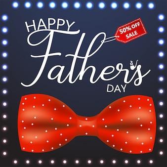 Tarjeta de felicitación feliz de la caligrafía del día de padre. ilustracion vectorial