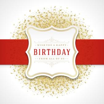 Tarjeta de felicitación de feliz cumpleaños diseño plantilla de vector.