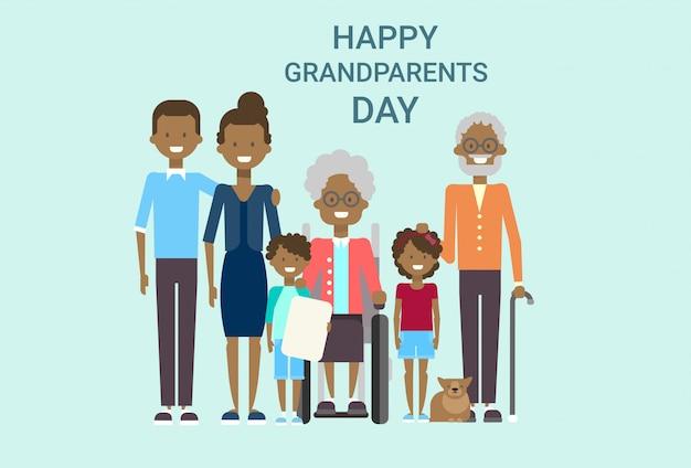 Tarjeta de felicitación feliz del día de los abuelos