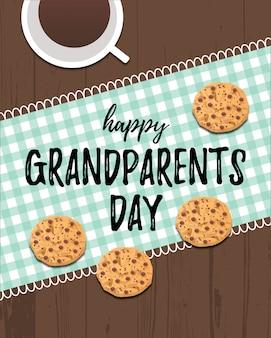 Tarjeta de felicitación feliz del día de los abuelos.