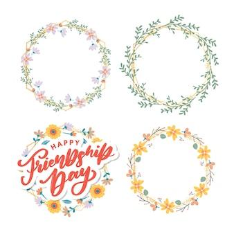 Tarjeta de felicitación feliz día de la amistad. para carteles, folletos, pancartas para plantillas de sitios web, tarjetas, carteles, logotipos. ilustración vectorial.