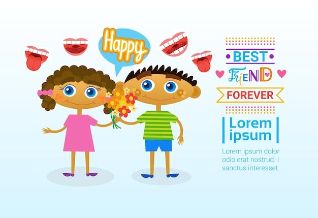 Tarjeta de felicitación feliz día de la amistad