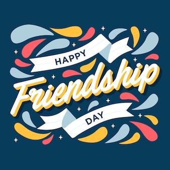 Tarjeta de felicitación feliz del día de la amistad