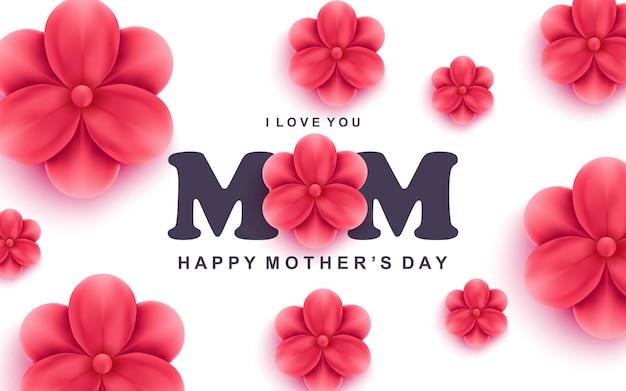 Tarjeta de felicitación feliz del día de la madre o ilustración de banner web