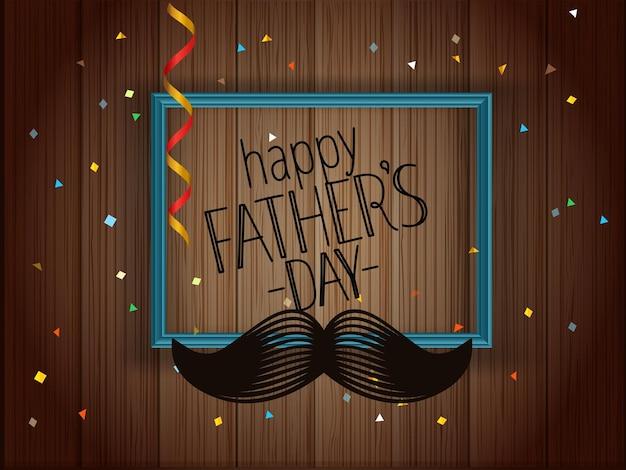 Tarjeta de felicitación feliz del día del padre