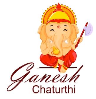 Tarjeta de felicitación feliz de ganesh chaturthi