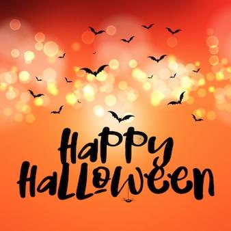 Tarjeta de felicitación feliz halloween