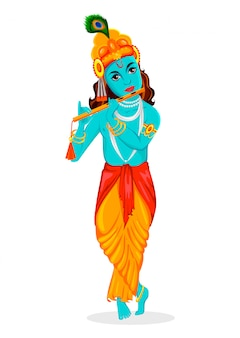 Tarjeta de felicitación feliz de krishna janmashtami