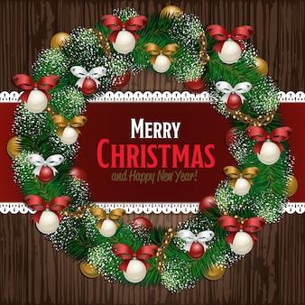 Tarjeta de felicitación de feliz navidad y feliz año nuevo
