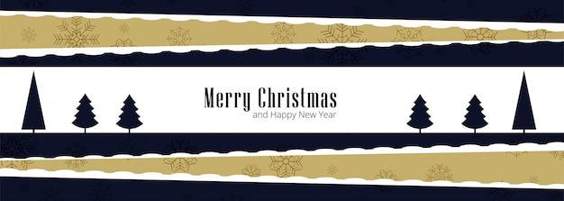 Tarjeta de felicitación de feliz navidad para vector de banner