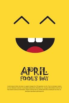 Tarjeta de felicitación feliz del primer día del tonto de abril tarjeta de felicitación feliz