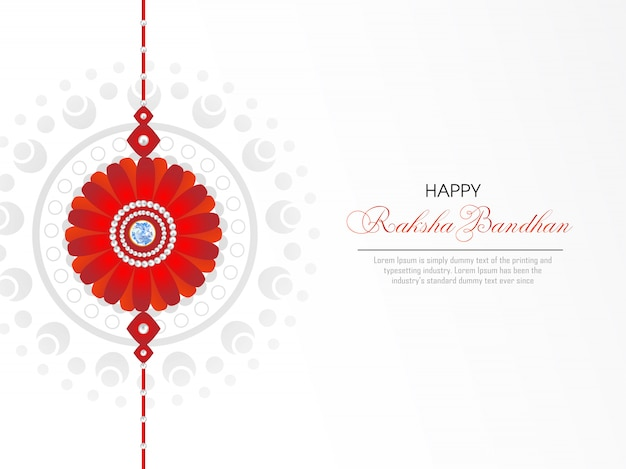 Tarjeta de felicitación feliz de raksha bandhan