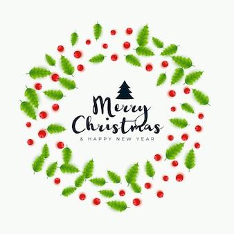 Tarjeta de felicitación del festival decorativo de feliz navidad