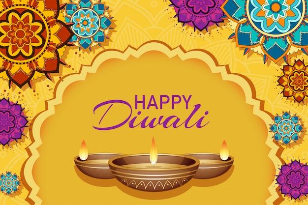 Tarjeta de felicitación del festival de diwali