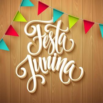 Tarjeta de felicitación fiesta festa junina