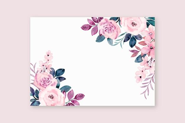 Tarjeta de felicitación con flor rosa rosa