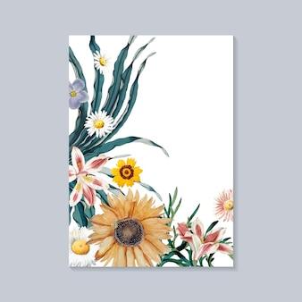 Tarjeta de felicitación en flor