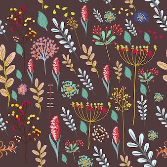 Tarjeta de felicitación floral buen rollo con flores de colores pastel.