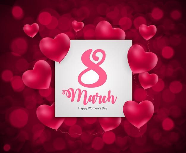 Tarjeta de felicitación floral internacional feliz día de las mujeres 8 de marzo