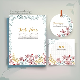 Tarjeta de felicitación floral vintage en estilo acuarela.