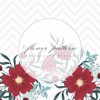 Tarjeta de felicitación con flores