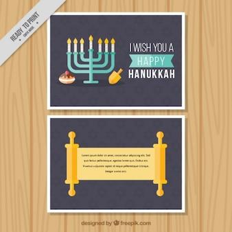 Tarjeta de felicitación para hanukkah