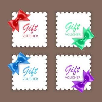 La tarjeta de felicitación con lazo realista se puede utilizar como tarjeta de felicitación del día de san valentín.