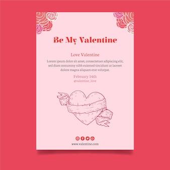 Tarjeta de felicitación linda del día de san valentín