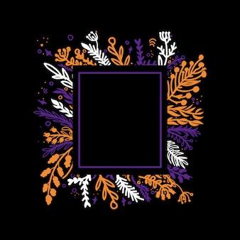 Tarjeta de felicitación marco floral