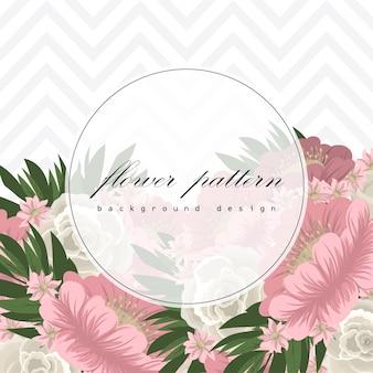 Tarjeta de felicitación con marco de rosas