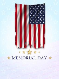 Tarjeta de felicitación del memorial day.